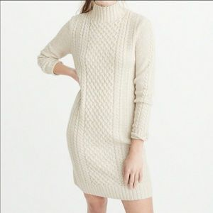 Abercrombie and Fitch Mock Neck Sweater Dress